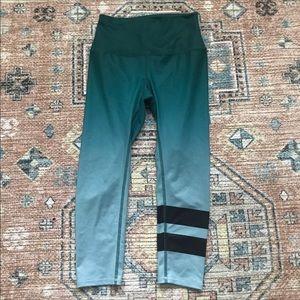 Alo high waist aqua ombré leggings tights Yoga XS